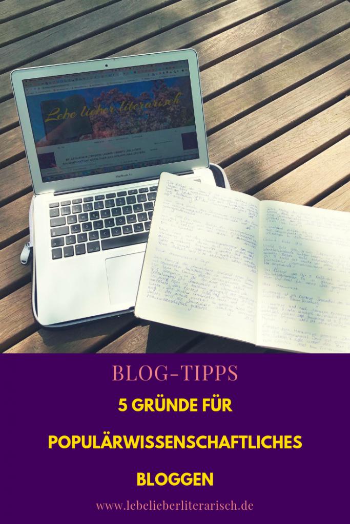Populärwissenschaftliches Bloggen ist in den Geisteswissenschaften eher selten. Hier erfährt du 5 Gründe, warum du eine der ersten sein solltes, die damit anfangen!