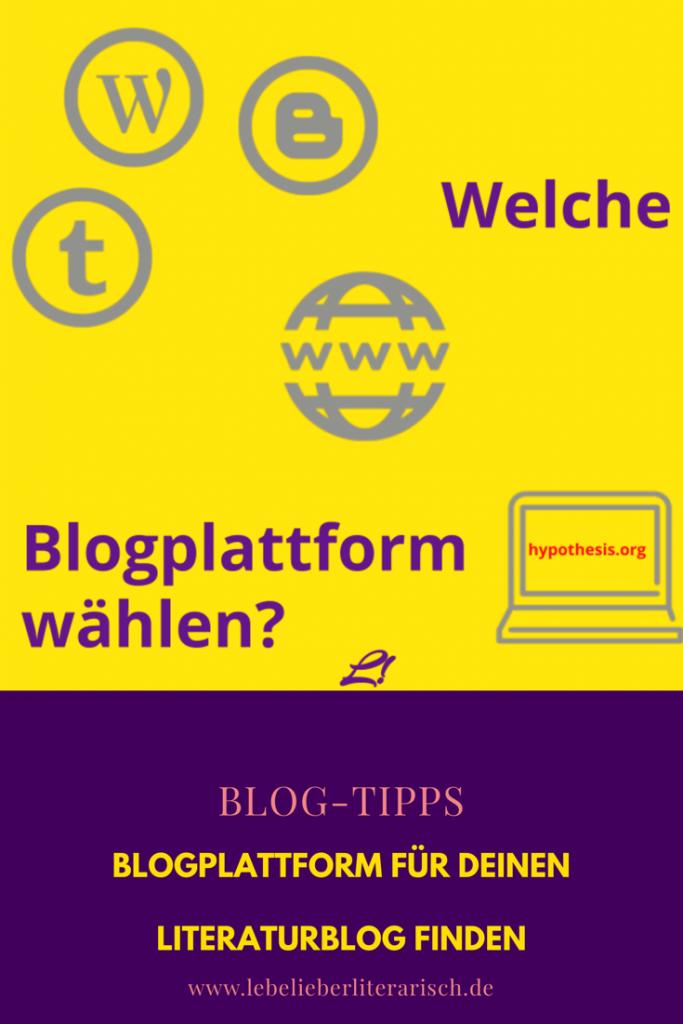 Wordpress, Blogger, Tumblr, Hypothesis oder doch lieber eine eigene Domain? Hier gebe ich dir Entscheidungshilfe für deine Blogplattform.