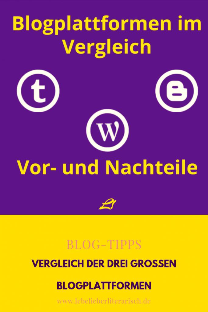 Du möchtest deinen Blog auf einer großen Blogplattform starten, weißt aber nicht, welche du nehmen sollst? Hier erfährst du alle Vor- und Nachteile von WordPress.com, Blogger und Tumblr.