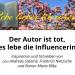 Der Autor ist tot, es lebe die Influencerin - Inspiration und Schreiben von Lou Andreas-Salomé, Friedrich Nietzsche und Rainer Maria Rilke. Ein Gastvortrag von Mareike Schumacher an der Universität Hamburg, 16.1.2020.