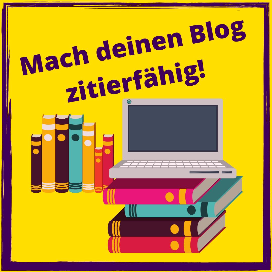 zitierfähig bloggen geht ganz leicht mit diesen beiden Wordpress-Plugins #Bloggen #academia #bildung