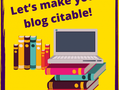 How to make your blog citable - citable blogging is so easy with these two WordPress Plugins. #academia #education #blog