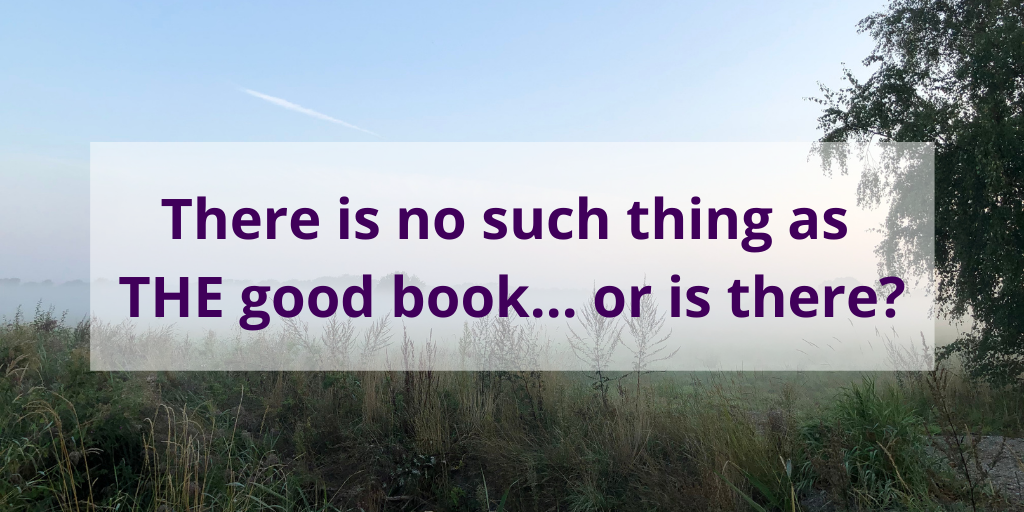 is no such thing as THE good book... or is there? #books #reading